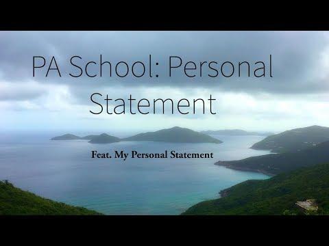 PA School: Personal Statement