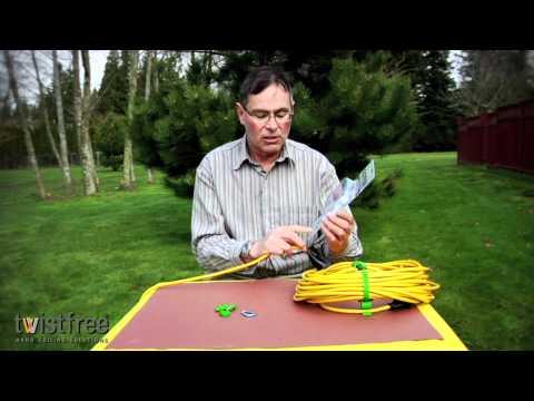 Twistfree Gripz Extension Cord Daisy Chain Strain Relief | http://twistfree.com