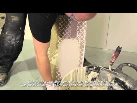 How to Install Large Format Wall Tiles