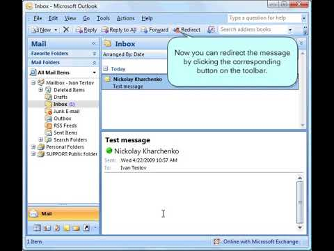 How to redirect Outlook emails instead of forwarding them