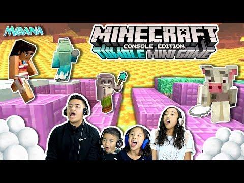 WHO'S READY TO TUMBLE??!! | Minecraft Tumble Mini Game | Snowball And Shovel Fight!