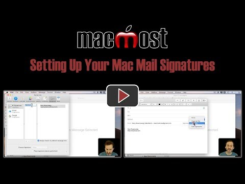 Setting Up Your Mac Mail Signatures (MacMost #1828)