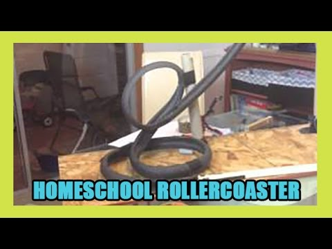 How to make a Homemade Roller Coaster Model -Home School Science Day 227 | ActOutGames