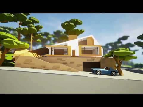 Low Poly House. Unreal Engine 4