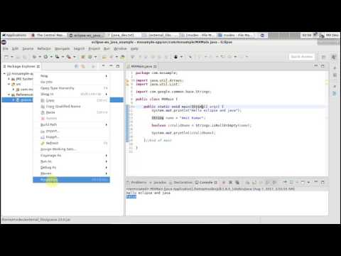 Java development - Adding an external jar, javadoc and sources to your project in eclipse