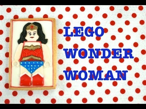 LEGO Wonder Woman Cookies tutorial (How-to)-Mixing-it-up!