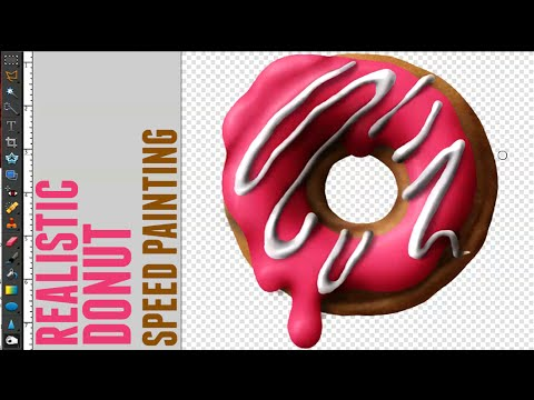 Realistic DONUT Time Lapse | Digital Speed Painting by Jess Paul