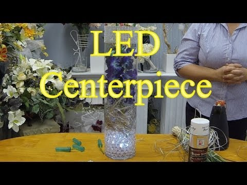 How to Make a Wedding Centrepiece with Orchids and LED Lights