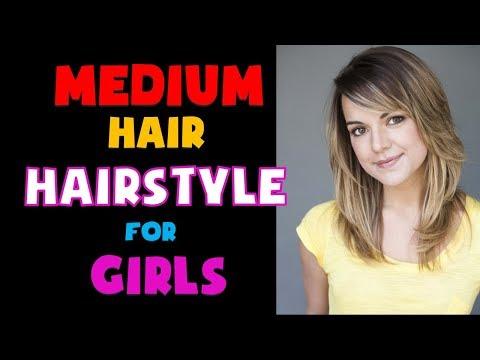 Medium Hair Hairstyle For Girls