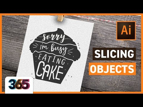 Slicing Objects in Illustrator CC | tips & time-lapse  #27/365 Days of Creativity