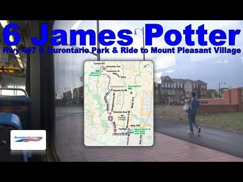 6 James Potter - Brampton Transit 2006 Nova Bus LFS 0634 (Hwy 407 P&R to Mt. Pleasant Village)
