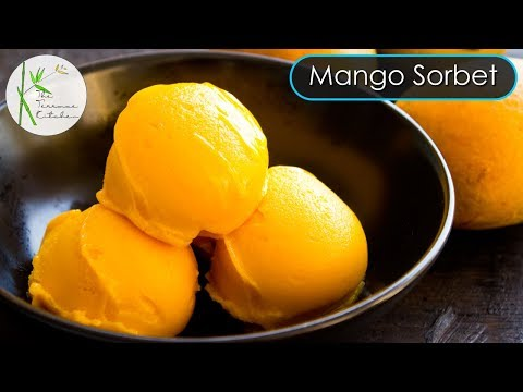 Mango Ice Cream without Milk & Cream | Mango Sorbet Recipe ~ The Terrace Kitchen