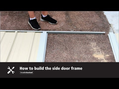 Shed Assembly Tips - How to build the side door frame
