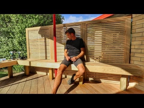 DIY Outdoor Bench with Trellis