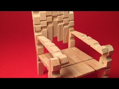 How To Make a Stylish Mini Clothespins Chair - DIY Crafts Tutorial - Guidecentral