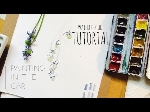 Painting  with Watercolor in a moving Car - Just for fun - WATERCOLOUR by Scarlett Damen