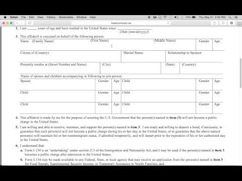 How to Fill-in Form I-134 | USCIS Affidavit of Support