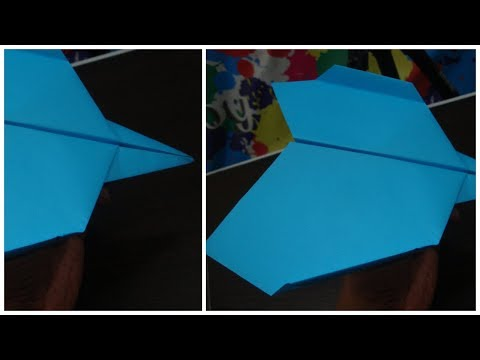 How to make paper airplane. Best paper airplane in the world.
