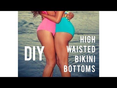 DIY EASY HIGH WAISTED BIKINI BOTTOMS SEWING TUTORIAL