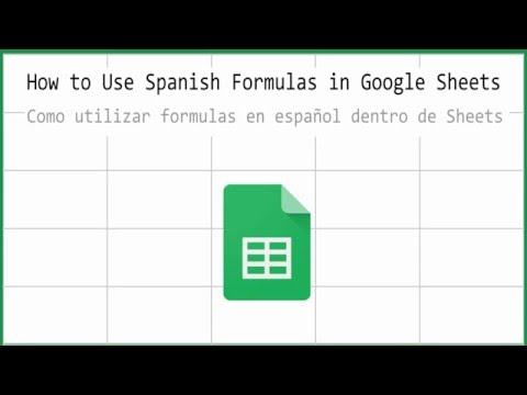 How to Use Spanish Formulas in Google Sheets
