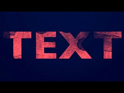 How to create a grunge distressed text effect in Photoshop Tutorial