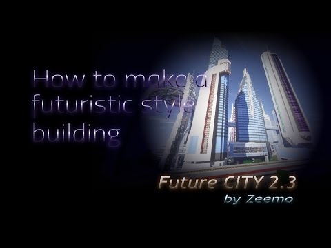 Minecraft | How to make a futuristic building