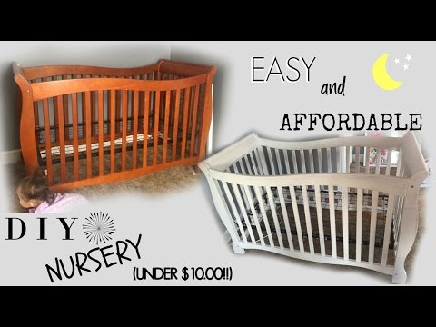 DIY Nursery//CRIB on a BUDGET!! Under $10.00!! VLOG