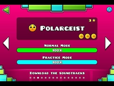 Geometry Dash Gameplay! Level 3 - Polargeist  + All Coins