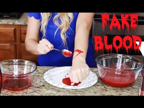 Best Fake Blood Recipes: How to Make Edible Fake Blood! (with or without Corn Syrup)