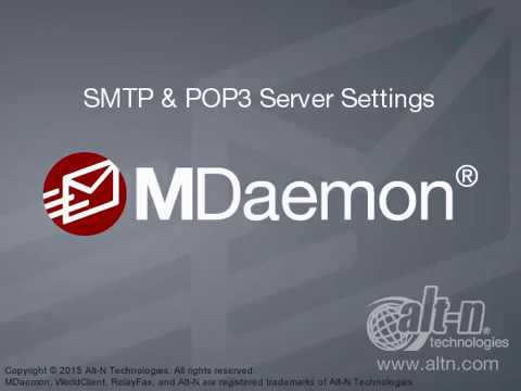 Domain & Server Settings - SMTP & POP3 Server Settings