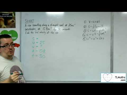A-Level Maths 2017 Q3-03 [SUVAT: Using the Formulae Example 2]
