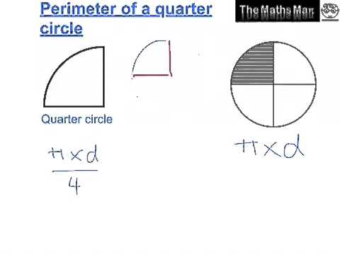 Area and perimeter of semi and quarter circles