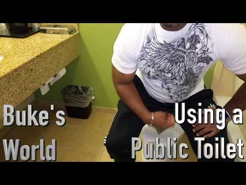 How to Safely and Sanitarily use a public Toilet when toilet seat protector sheets are not available