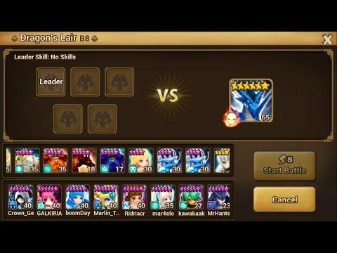 Summoners War Sky Arena Dragon Lair B8 Farm Team