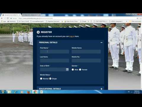 How to fill indian navy form 2018