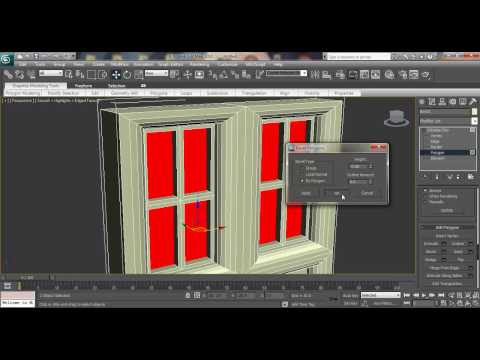 3ds max Modeling Tutorial: How to model Architectural window using Editable poly