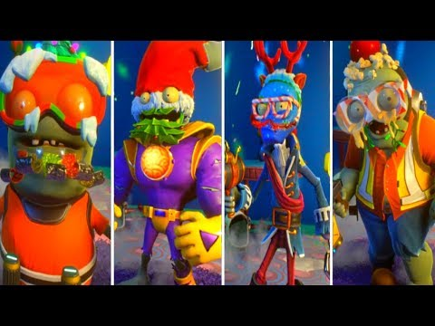 PVZ Garden Warfare 2 - ALL ZOMBIE FEASTIVUS HATS (Christmas 2017)