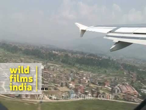 Plane taking off from Tribhuvan airport, Nepal!