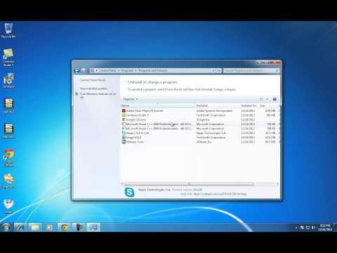 How do I delete Skype from my Windows 7 desktop PC