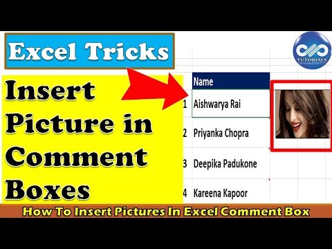 Excel Tricks: How To Insert Pictures In Excel Comment Box || Excel Tips || dptutorials