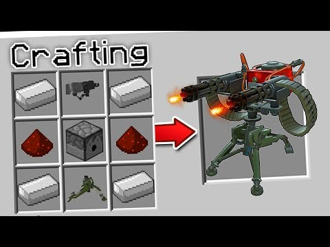 CRAFTING A SENTRY GUN IN MINECRAFT?!... (*ACTUALLY WORKS*)