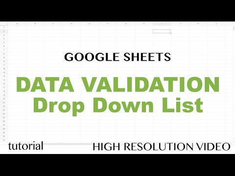 Google Sheets Drop Down List - Data Validation Tutorial, Dynamic Lists from Ranges