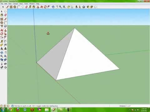 How to Make the Perfect Pyramid (the easy way) Google Sketchup Pro