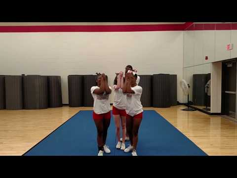 HF Tryout Cheer 2018 Advanced Stunt (Switch up 'tick tock'  to a heel stretch) and one man