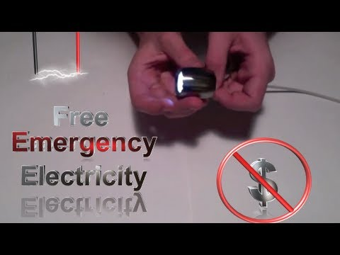How to Get a Free Source of Emergency Electricity