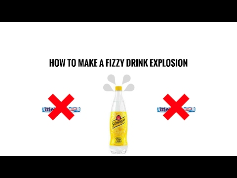 How to make a fizzy drink explosion(without mentos)
