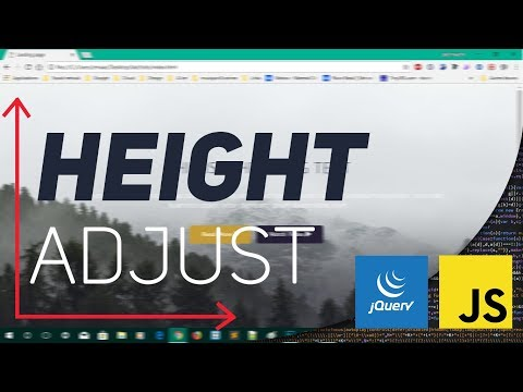 Adjust section height with window height with js/jquery EN/FR