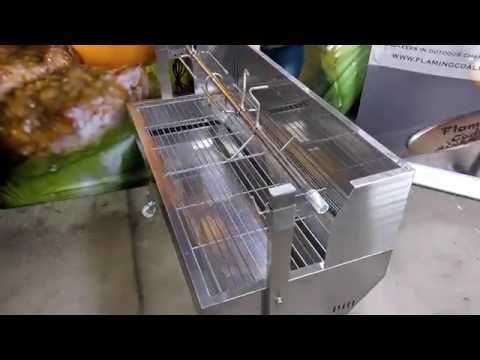 Flaming Coals Spartan with Windshield Spit Rotisserie Review