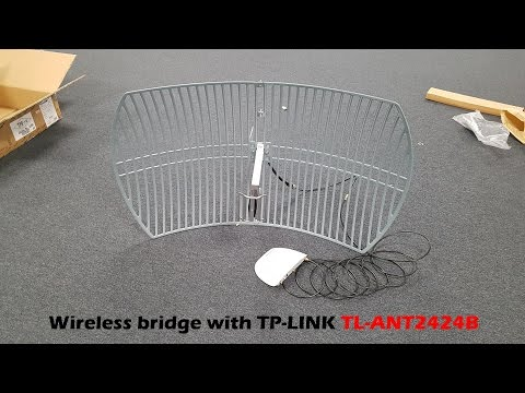 Building a wireless bridge with the TP-Link antenna TL-ANT2424B