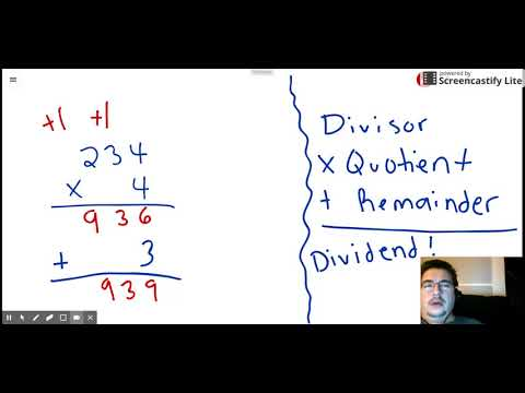 What Division Problem is Being Checked?